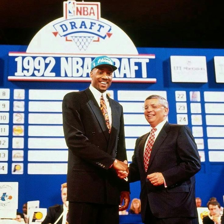 Alonzo Mourning was selected by the Charlotte Hornets on the 1992 NBA Draft