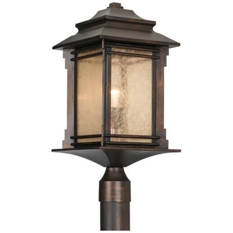Franklin Iron Works Hickory Point Outdoor Post Light - I think I want this on a lamp post in the front yard..........