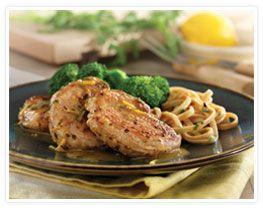 http://www.porkbeinspired.com/RecipeDetail/2542/Sauteed_Pork_Tenderloin_Medallions_with_Lemon-Garlic_Sauce.aspx