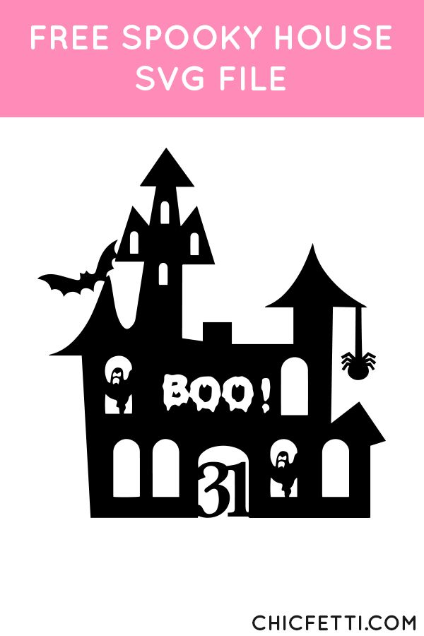 Free Spooky House SVG File from @chicfetti - works with Silhouette and other SVG cutting machines