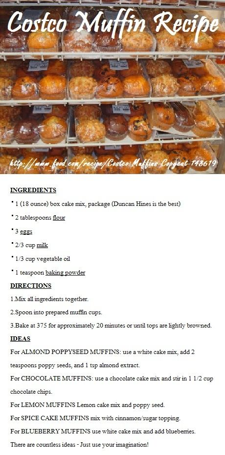Costco Muffin Recipe! | REPINNED