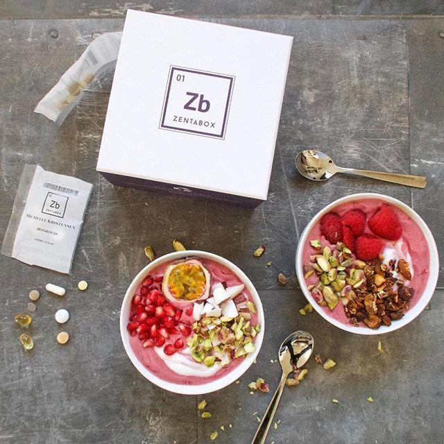 Zentabox vitamins and breakfast smoothie bowl