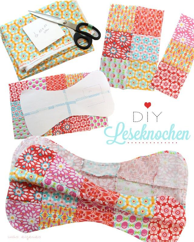 DIY Patchwork Leseknochen | selber nähen | Anleitung |was eigenes Blog