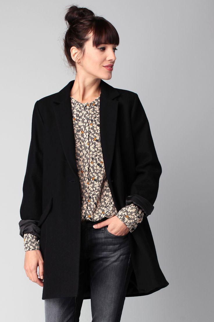 Manteau noir laine Hello Dol Sessun sur MonShowroom.com - taille M