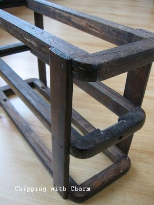 Wooden Frame of Vintage Sewing Machine Boxes