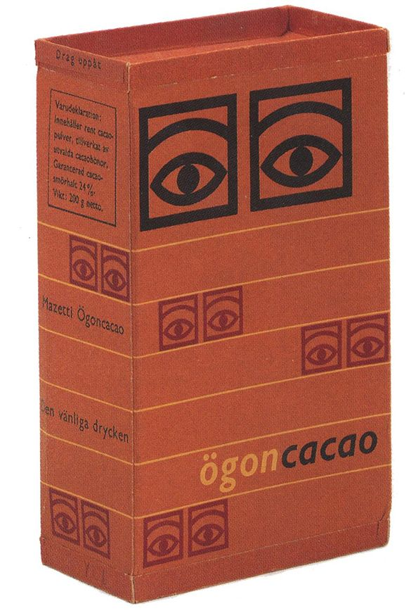 ögon cacao box by Olle Eksell