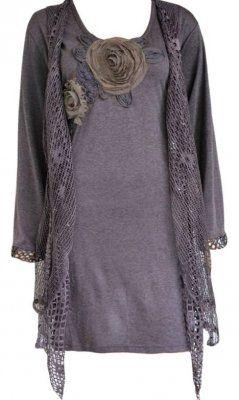 Pretty Angel Clothing PLUS SIZE Memphis Vintage Blouse Lt Purple