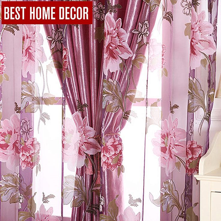 Best home decor floral window blackout curtains for living room the bedroom modern tulle curtains for window treatment blinds