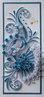 Quilling card by Nelika Neli..... absolutely gorgeous!
