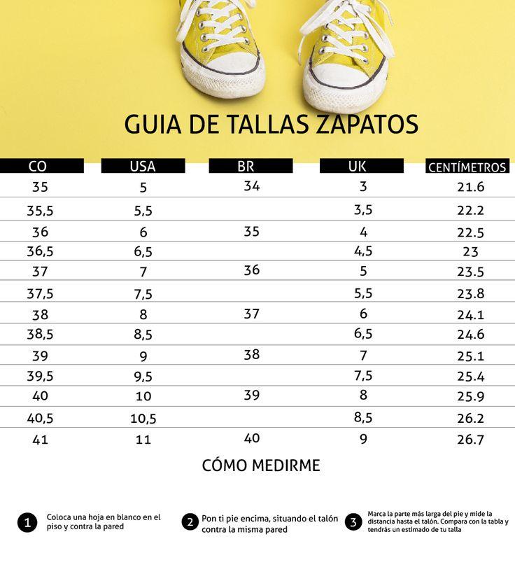 tabla para tallas de zapatos para technologiestrade.com