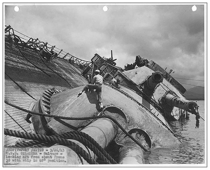 Salvage of USS Oklahoma  Become the best in the business by recruiting the best tech talent. Recruiting for Good can help, email us at carlos@recruitingforgood.com