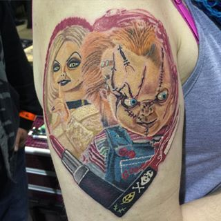 1000 images about chucky and bride tattoos on pinterest for Bride of chucky tattoo