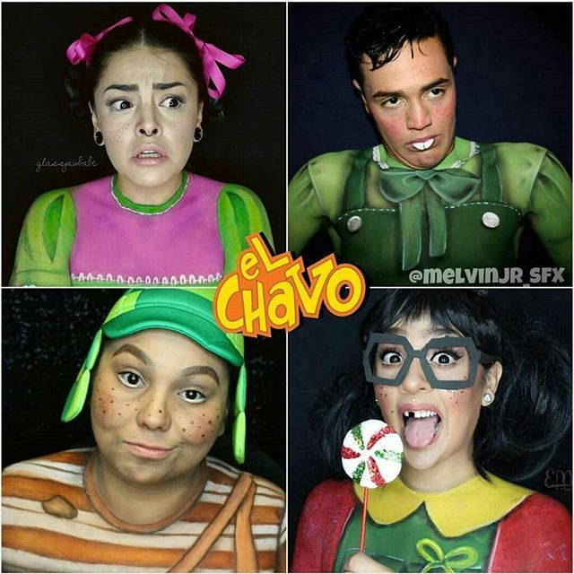 #ElChavoDel8 collab check out all these amazing artist!! Follow la #Popis @glassjawbabe | el #Ñoño @melvinjr_sfx | y la #Chilindrina @eva.lamorte