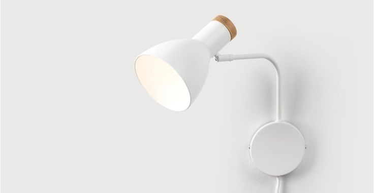 Cohen Wall Lamp, White | made.com