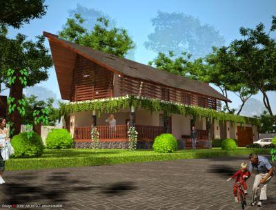 Rumah Kebun Unik   Roni Architect