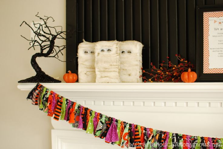 how to make a fabric halloween banner tutorial