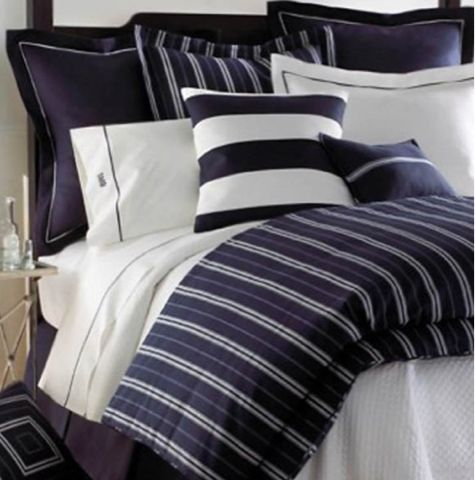 Navy Blue And White Bed In A Bag