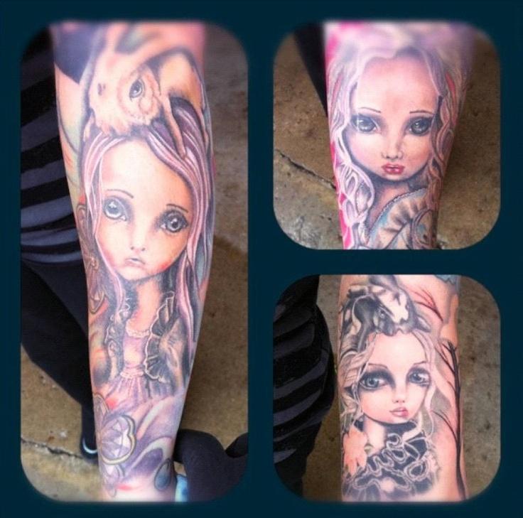 Angelina Wrona art immortalized as a tattoo :)