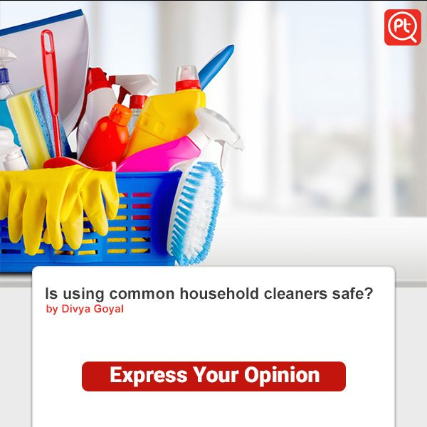 Is using common #household #cleaners safe? #ExpressYourOpinion www.posticker.com
