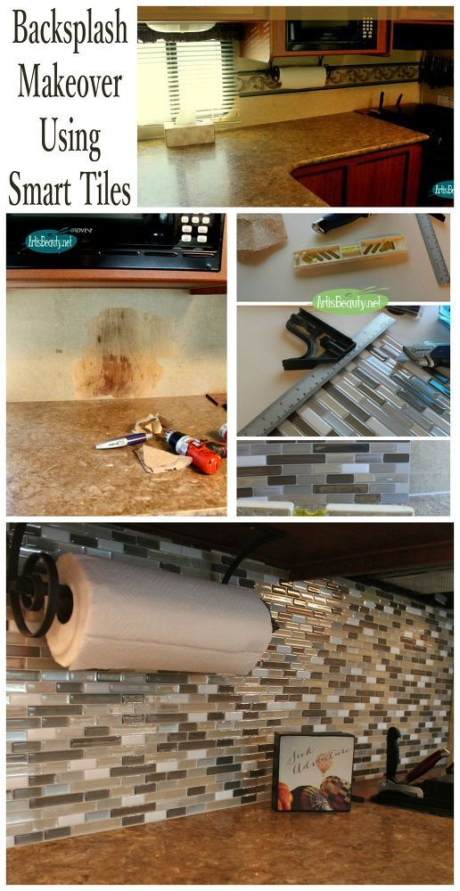 Hometalk | Easy BackSplash Makeover Using Smart Tiles