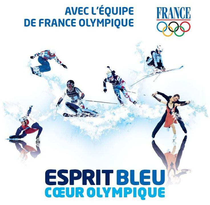 Esprit Bleu ! And the French Olympic Team! Sochi 2014.
