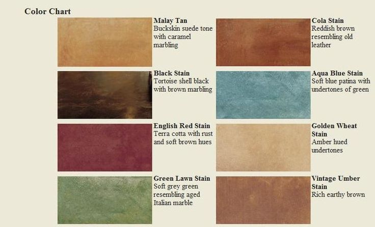 Concrete Stain Colors Stone See Color Chart Chem