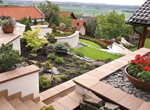 Террасирование садового участка, сад Йозефа Марциана
