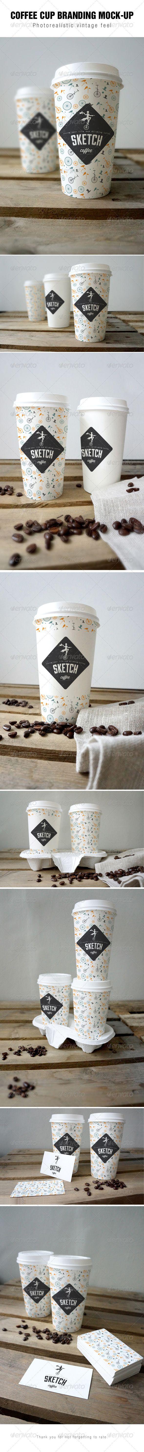 Coffee cup branding Mock-up - Food and Drink Packaging