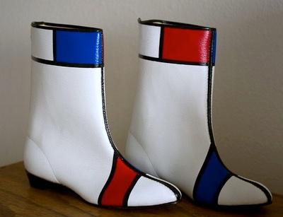 1960s vintage child's Mondrian Go-Go boots