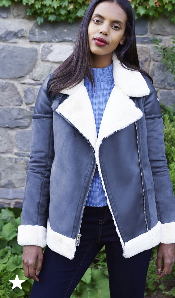 Soft and fuzzy on the inside, this MICHAEL Michael Kors faux-shearling coat is perfectly stylish on the outside. Pair with your favorite weekday outfit, or throw on over your casual weekend look for an effortlessly cool vibe. Available now at macys.com.