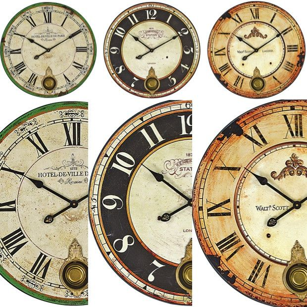 Wood Wall Clock With Pendulum 3 Styles Pendulum Wall Clock Clock Wood Wall Clock
