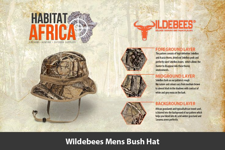 The Wildebees Mens Bush Hat is made from 100% Cotton Ripstop material, has an…