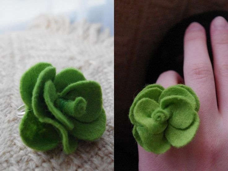 kwiatek - pierścionek