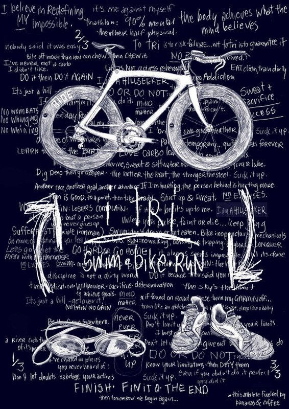 I TRI Men's Triathlon T Shirt Gift For by CycologyClothing