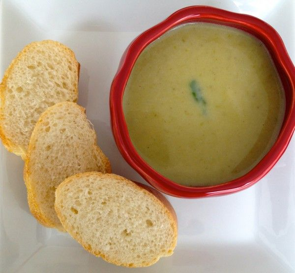 Creamy Asparagus Soup that is flavorful and light. No Cream