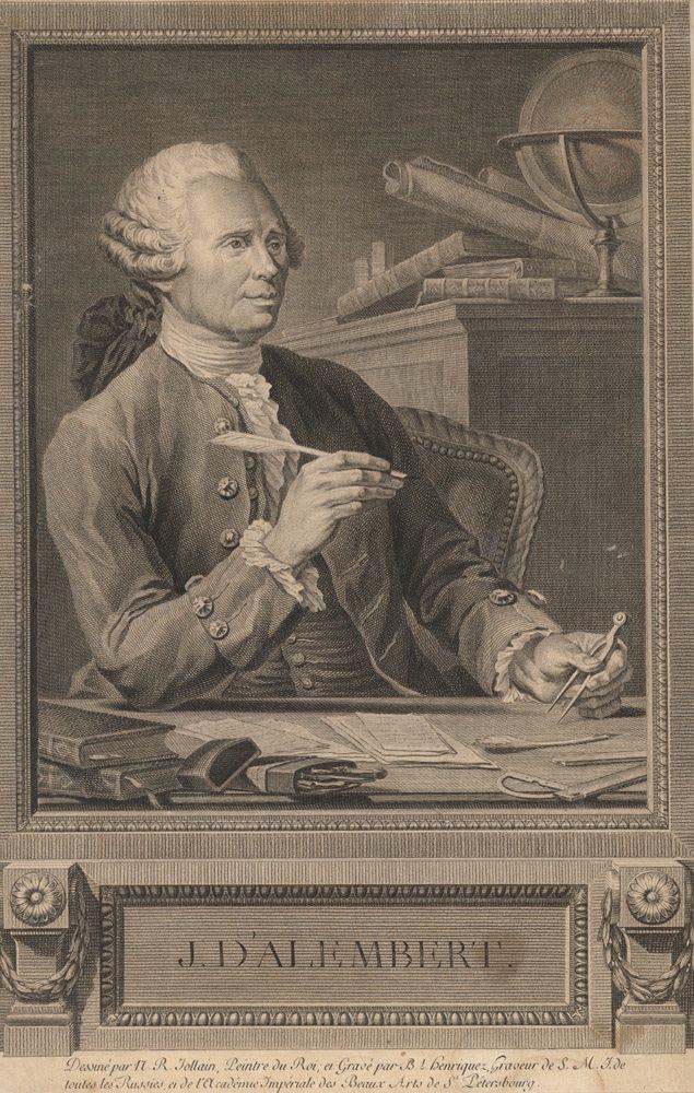 Jean Baptiste d'Alembert, fue un matemático, filósofo y enciclopedista francés, uno de los máximos exponentes del movimiento ilustrado.