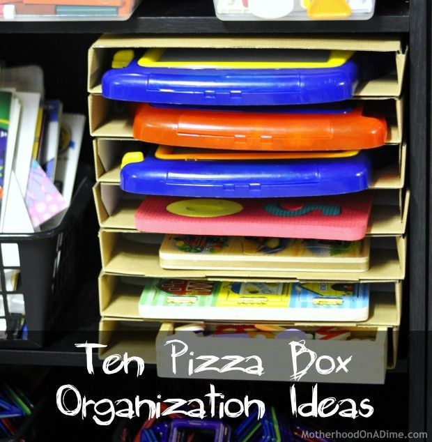 18 best images about craft pizza box on pinterest for Ways to organize craft supplies