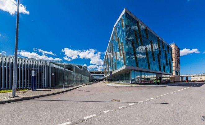 Business Center and «Park Inn» Hotel. Pulkovo Airport. The Project is provided in cooperation with Ramboll Group and Grimshaw Architects