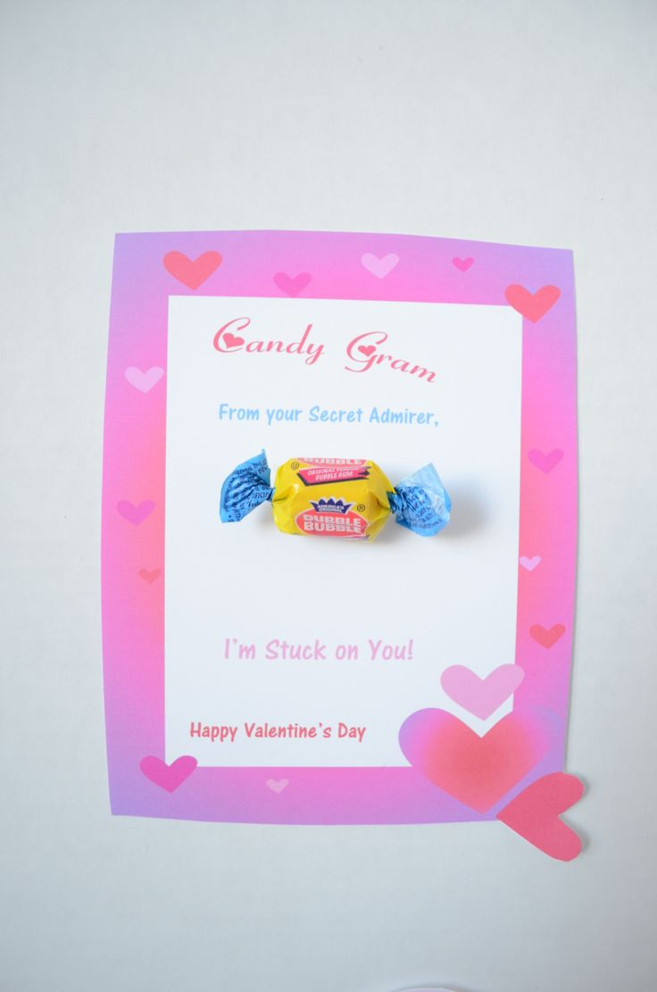 Valentines Day Bubblegum Candy Gram