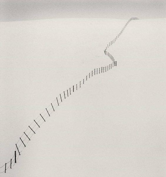 Michael Kenna - Hillside Fence, Study 2, Teshikaga, Hokkaido, Japan. 2008