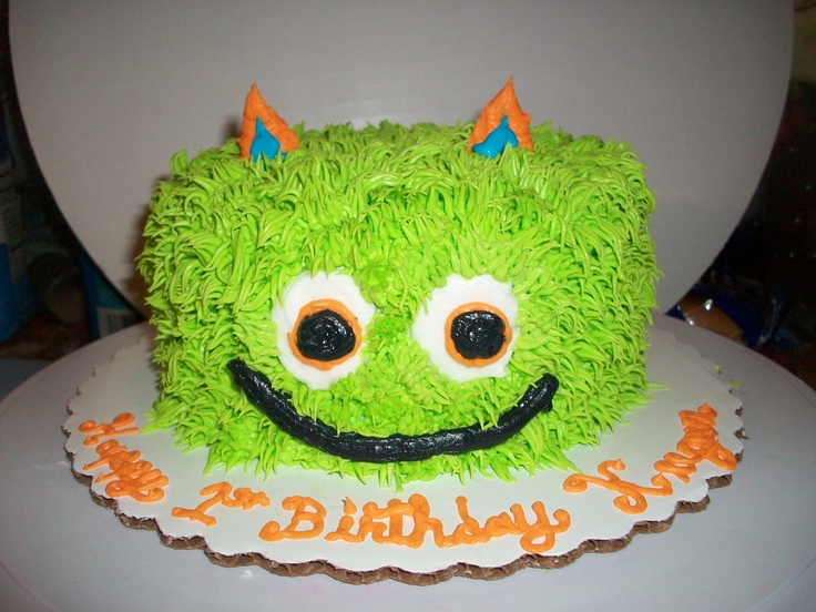 """MONSTER smash cake.  Just needs a """"1"""" candle!"""