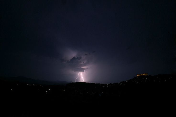 Lightning ground strike at 23:29 on 6 August 2014