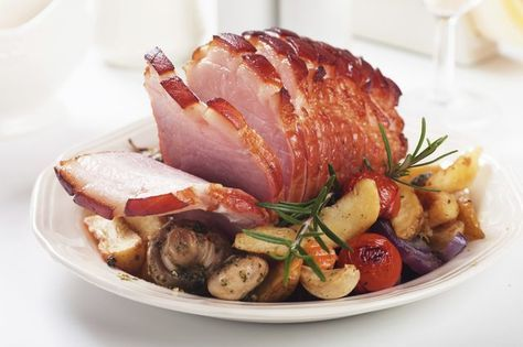 HoneyBaked hams undergo a curing, smoking and baking process that makes them safe to eat at room temperature for up to two hours. The HoneyBaked Ham Company recommends letting...