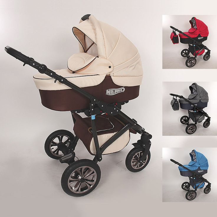 Kombi Kinderwagen 3in1 Sportsitz Autositz Babyschale Schwenkräder Zubehör