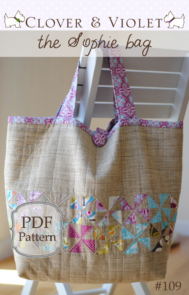 Image of the Sophie beach bag {pdf sewing pattern}