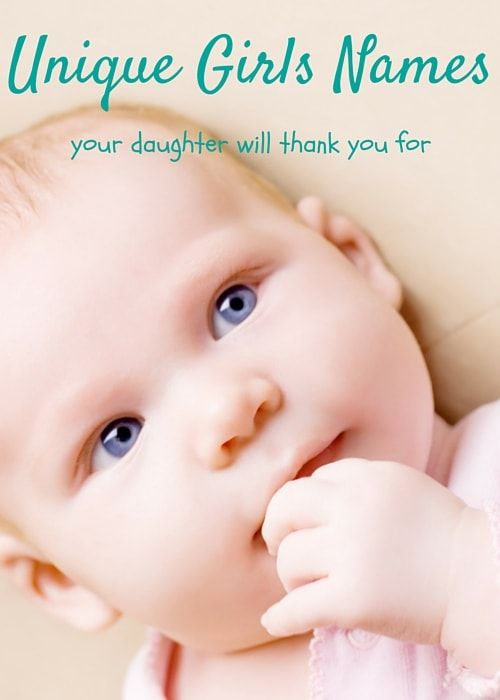 Unique Girls Names Your Daughter Will Thank You For: Parents today are choosing unique girls names names for their daughters, allowing them to integrate their well thought out name as part of their identity. #uniquenames #babynames #canvasfactory