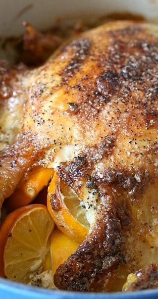Meyer Lemon Mayonnaise Roasted Chicken ~ Full of citrus flavor and super moist