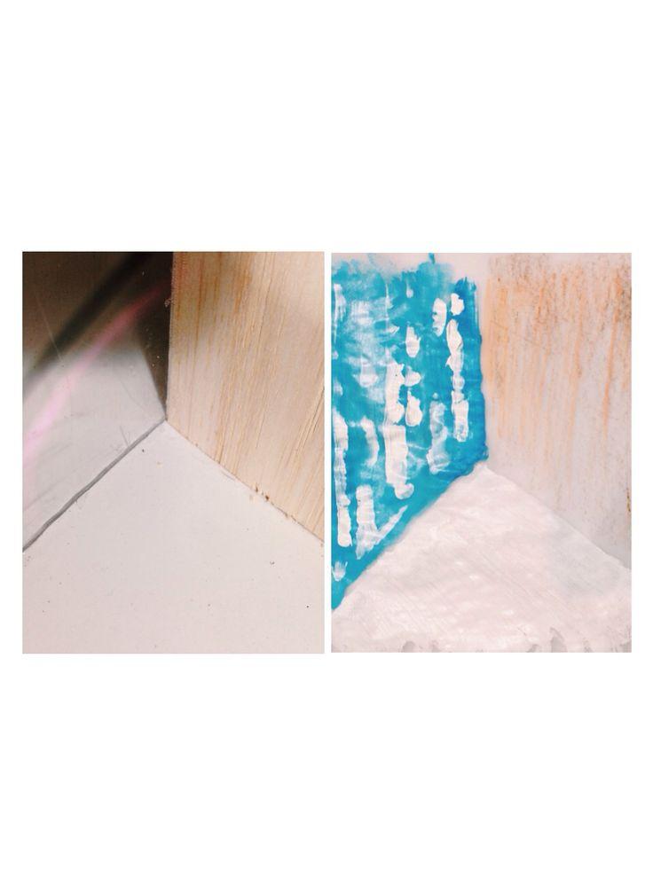 texture. material: acrylic, pvc, balsa wood.