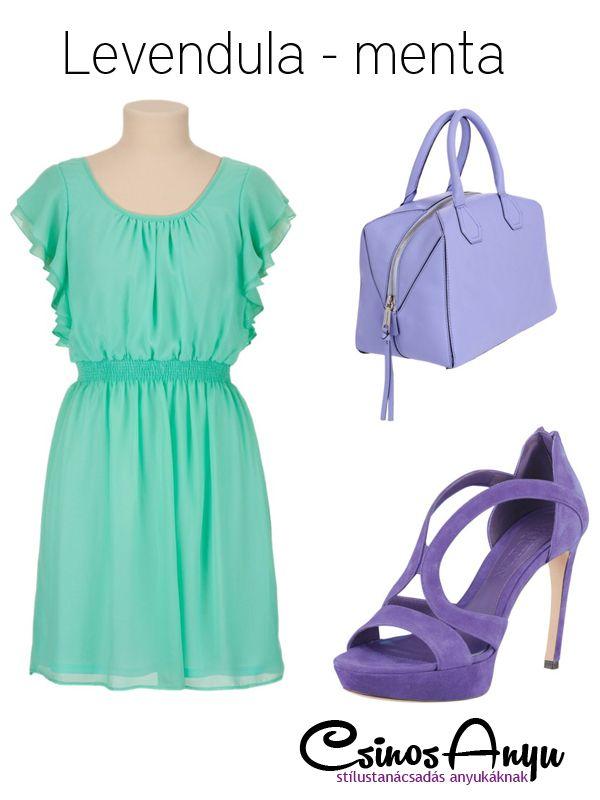 Nyári színek: levendula - menta http://csinosanyu.hu