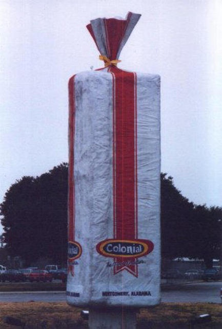 World's Largest Loaf of Bread, Colonial Bakeries, Montgomery, Alabama